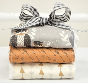 Woodland Burp Cloths |Oh Hello Fog Crib Collection