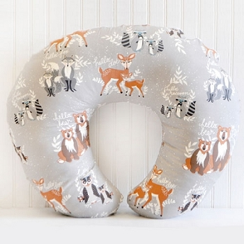 Woodland Nursing Pillow Cover | Oh Hello Fog Crib Collection