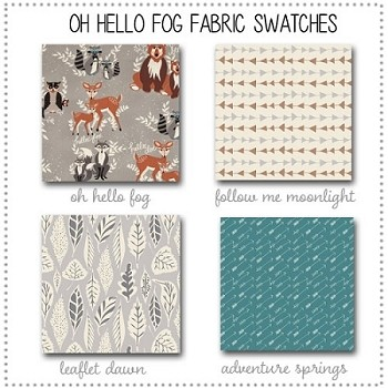 Oh Hello Fog Crib Collection Fabric Swatches Only