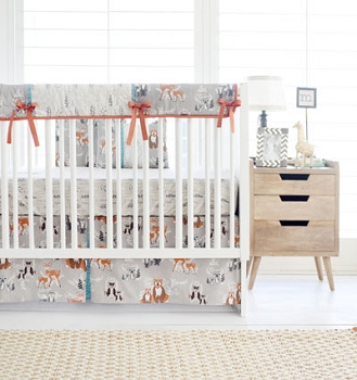 Woodland Crib Rail Guard Set | Oh Hello Fog Crib Collection