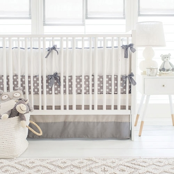 Grey Crib Bedding  | Gray Ombre Crib Collection