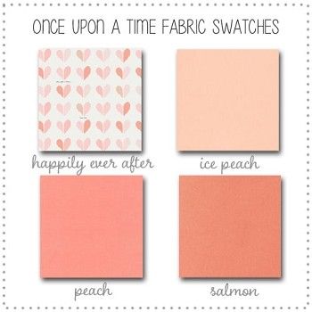 Once Upon a Time Crib Bedding Collection Fabric Swatches Only