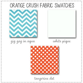 Orange Crush Bedding Collection Fabric Swatches Only