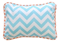 Chevron Pillow | Orange Crush Crib Collection