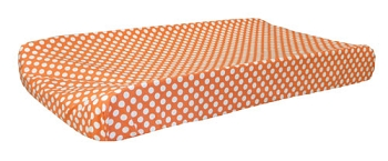 Orange Polka Dot Changing Pad Cover