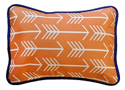 Orange & Navy Arrow Throw Pillow  |  Out and About Crib Collection