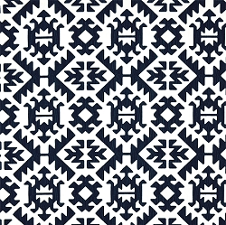 Premier Prints Pawnee Premier Navy | Tribal in Navy