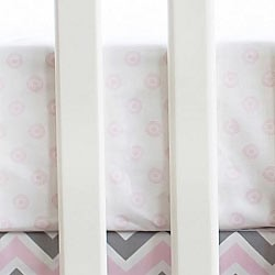 Sunburst in Pink Crib Sheet | Peace, Love & Pink Collection