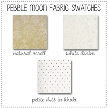 Pebble Moon Bedding Collection Fabric Swatches Only