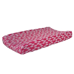 Penelope in Pink Changing Pad Cover