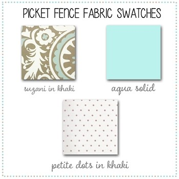 Picket Fence Bedding Collection Fabric Swatches Only