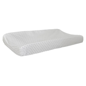White and Khaki Polka Dot Changing Pad Cover