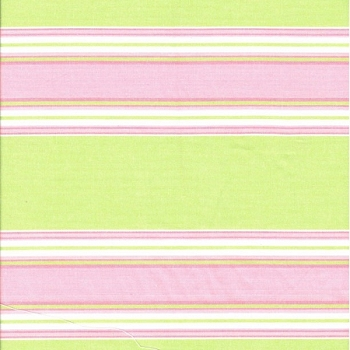 Pink & Green Stripe Fabric | Roth & Thompkins Textiles