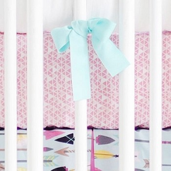 Pink Crib Sheet | Little Explorer in Pink Crib Collection