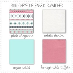 Pink Cheyenne Bedding Collection Fabric Swatches Only
