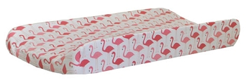 Pink Changing Pad Cover | Urban Flamingo Crib Collection