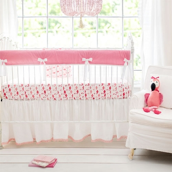 Pink Crib Rail Cover Set | Urban Flamingo Collection