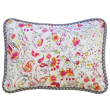 Raspberry Bouquet Throw Pillow