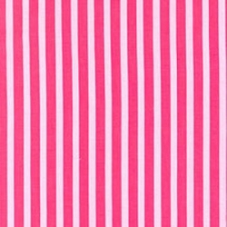 Wide Pima Cotton Stripe Raspberry Stripe