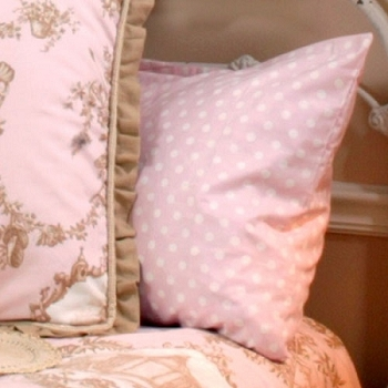 Pink Polka Dot Standard Pillow Sham