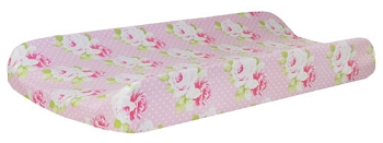 Pink Floral Changing Pad Cover | Sadie's Dance in Pink Crib Collection