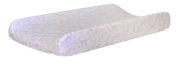 Pink Woodland Changing Pad Cover | Born Wild in Pink Crib Collection