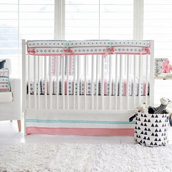 Nursery Rail Guard | Mint & Pink Cheyenne Collection