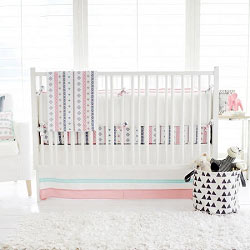 Pink Tribal Baby Bedding | Pink Cheyenne Crib Collection
