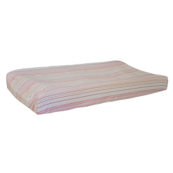 Pink Confetti Stripe Changing Pad Cover | Pink Sorbet Collection