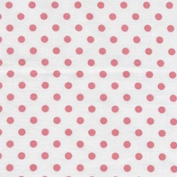Coral Polka Dot Changing Pad Cover