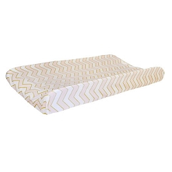 Gold & Pink Chevron Changing Pad Cover  |  Gold Rush in Pink Crib Collection