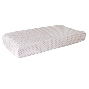 Small Pink Polka Dot Changing Pad Cover