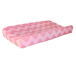 Pink Sugar Chevron Changing Pad Cover | Zig Zag Baby in Pink Sugar Crib Collection