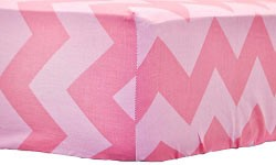 Pink Chevron Crib Sheet | Zig Zag Baby in Pink Sugar Collection