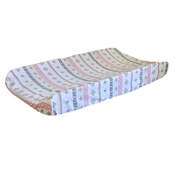 Pink Tribal Changing Pad Cover | Pink Cheyenne Crib Collection