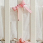 Pink & White Crib Bumper | Peace, Love, and Pink Crib Bumper