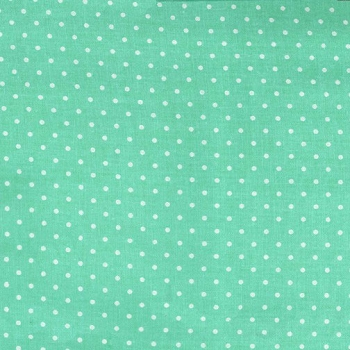 Mint Polka Dot Fabric | Michael Miller Pinhead Sprout