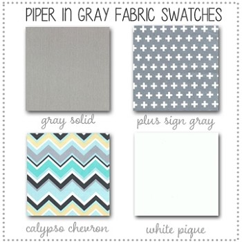 Piper in Gray Bedding Collection Fabric Swatches Only