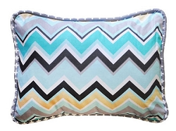Chevron Pillow | Piper in Gray Crib Collection
