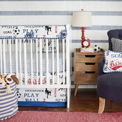 Sports Crib Rail Guard  |  All Star Crib Collection