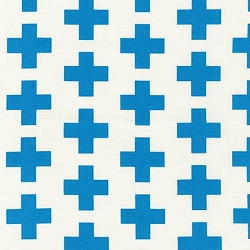 Robert Kaufman Geo Pop Canvas Blue | Plus Sign in Blue Fabric