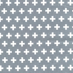 Gray Swiss Cross Fabric | Plus Sign Gray