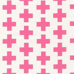 Robert Kaufman Geo Pop | Plus Sign in Pink
