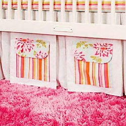 Pocket of Posies Crib Skirt
