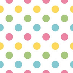 Polka Dot in Rainbow Changing Pad Cover