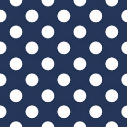 Navy Polka Dot Fabric | Riley Blake Medium Dots