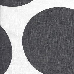 Jumbo Dot Gray Linen Fabric | Noveltex Smokey Tucany