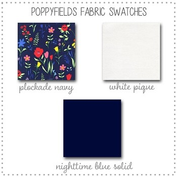 Poppyfields Crib Collection Fabric Swatches Only
