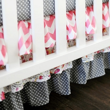 Primrose Ruffled Crib Skirt