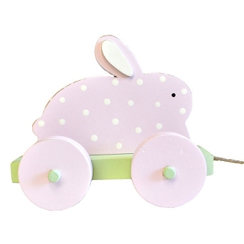 Pull Toy - Pink Bunny